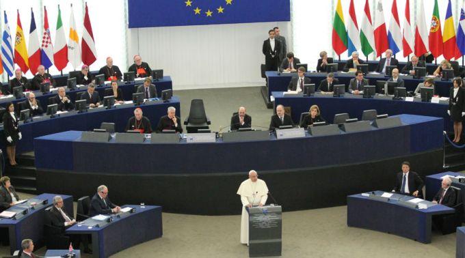 Francisco en el Parlamento Europeo