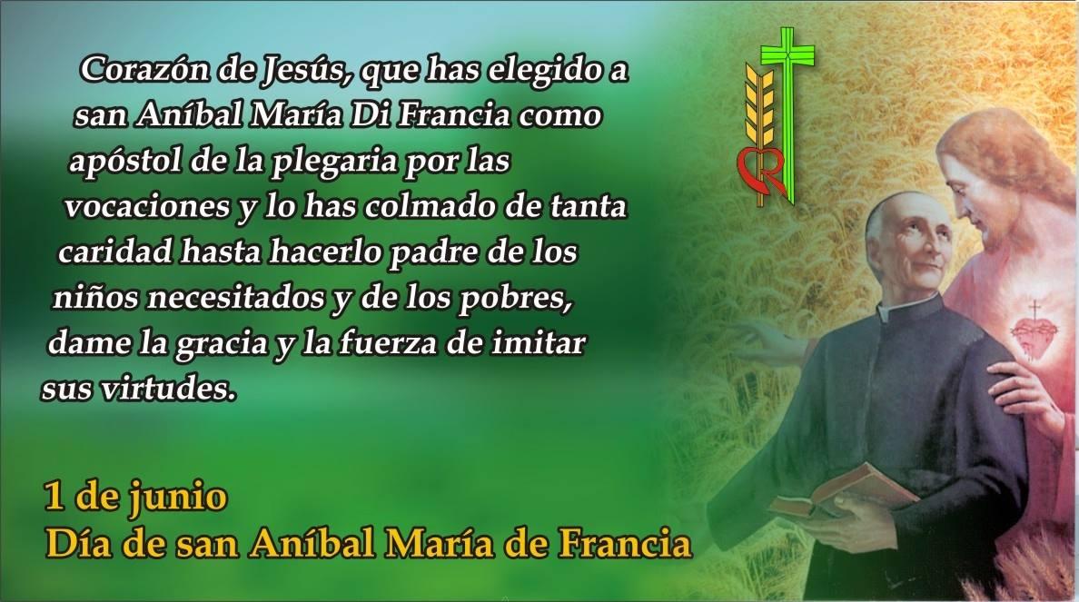 1 de junio: San Anibal Maria Di Francia