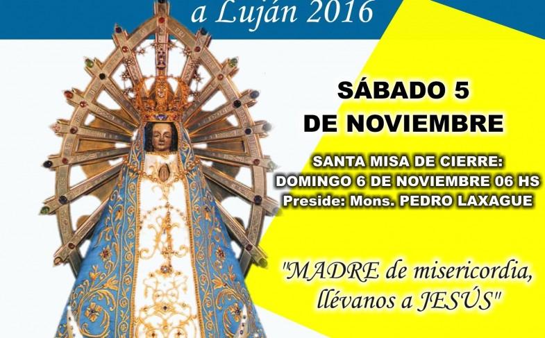 Sábado 5 de noviembre: Peregrinación Diocesana a pie a Luján 2016