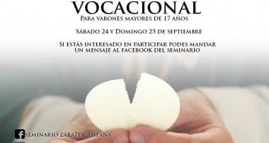Retiro Vocacional: sábado 24 y domingo 25 de septiembre en Campana