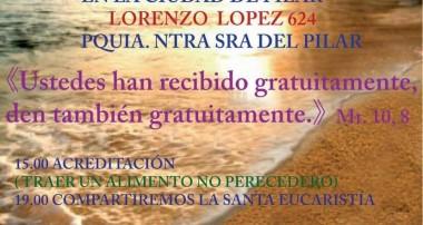 Domingo 30 de octubre: Ultreya del Movimiento de Jornadas Zarate – Campana