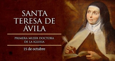 Santa Teresa de Jesus 15 de octubre