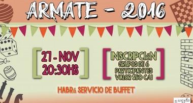 Armate 2016: Sábado 20/11.  Noche de Juegos a beneficio de la Pastoral Juvenil en Escobar