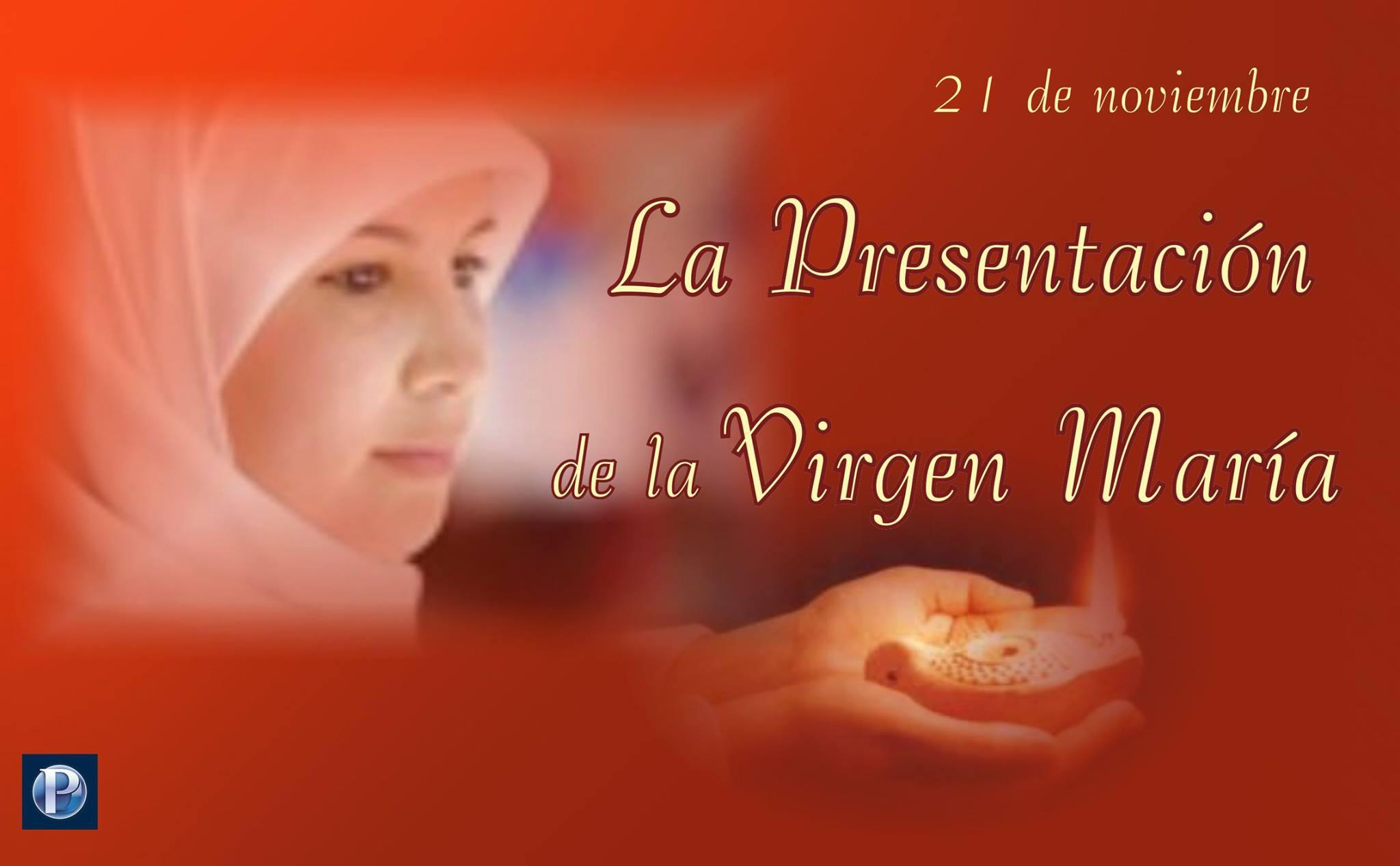 21 de noviembre: La Presentación de la Virgen María