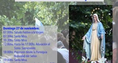 Domingo 27 de noviembre: Festividad en honor a la Medalla Milagrosa en Escobar
