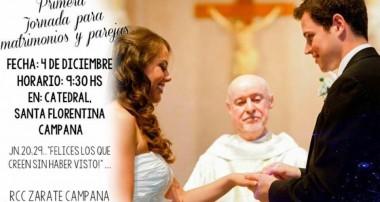 Domingo 4 de diciembre: Primera Jornada para novios y parejas en Campana