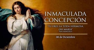 8 de diciembre: Día de la Inmaculada Concepción de María