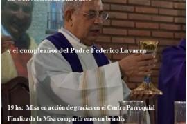 Pquia Ntra Sra del Carmen de Campana: Conversión de San Pablo y Cumpleaños del Padre Federico