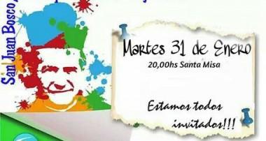 Miércoles 31 de enero a las 20 hs Misa Don Bosco en Zárate
