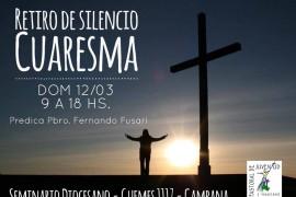 Domingo 12 de marzo: Retiro de Silencio