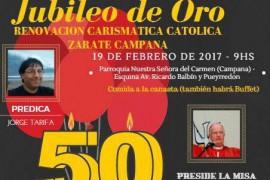 Domingo 19 de febrero: Jubileo de Oro Renovación Carismática Católica