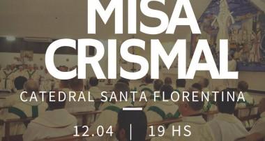 Miércoles 12 de abril 19 hs : Misa Crismal en la Catedral Santa Florentina. Campana.