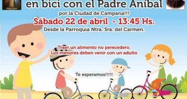 Sábado 22 de abril: 13:45 hs Vía Lucis en Bicicleta, desde Balbín y Pueyrredón, Campana