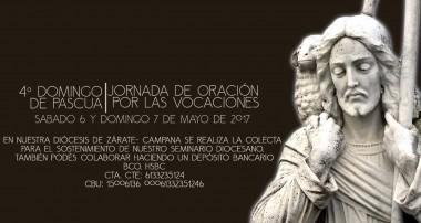 Colecta Buen Pastor en beneficio Seminario San Pedro y San Pablo: 6 y 7 de mayo