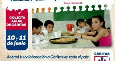 """"""" Si ves en el otro a tu hermano, nadie puede quedar excluido """" 10 y 11 de junio: Colecta Anual de Caritas."""