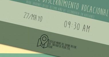 27 de mayo: Jornada de Discernimiento Vocacional en Pilar