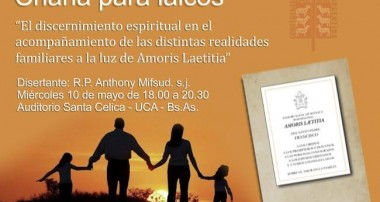 RECORDATORIO: Hoy 10 de mayo 18 hs Charla para Laicos en la UCA, CABA
