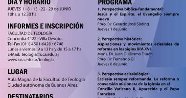 Curso sobre la reforma en la Iglesia y la reforma de la Iglesia, segun inspiración e impulso del Papa Francisco