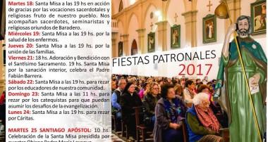 Martes 25 de julio: 10 hs Fiestas Patronales en Santiago Apostol, Baradero