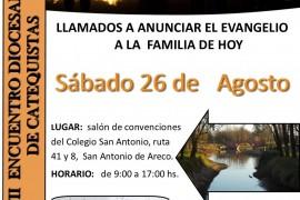 Sábado 26 de agosto: Encuentro Diocesano de Catequistas en San Antonio de Areco