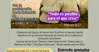 Viernes 14 de julio 18: 30 hs Encuentro para matrimonios y parejas en Pilar