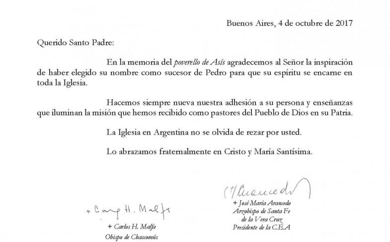 Carta de la CEA al Papa Francisco con motivo de celebrarse la memoria de San Francisco de Asís