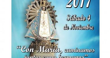 Afiche de difusión: 39° Peregrinación Diocesana a pie a Luján, sábado 4 noviembre 2017