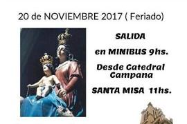Lunes 20 de noviembre: Peregrinación a Nueva Pompeya