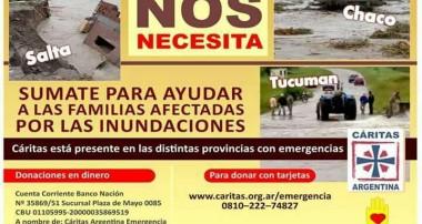 Sumate para ayudar a las familias afectadas por las inundaciones