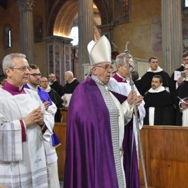 Miércoles de Ceniza 14.02.18: Papa Francisco: Procesión penitencial y Santa Misa