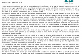 Carta abierta de la Comisión Episcopal de Pastoral Social al Ministro de Minería y Energía, Ing. Juan José Aranguren