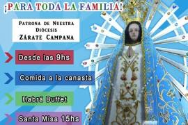 Sábado 12 de mayo: Fiesta diocesana por la Virgen de Luján . Desde las 9 hs en Campana