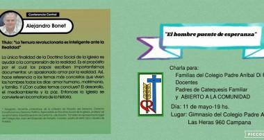 """Conferencia viernes 11 mayo: """"La ternura revolucionaria es inteligente ante la realidad"""" Alejandro Bonet"""