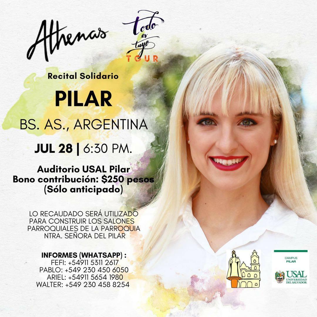 Recital a beneficio en Pilar: Athenas 28 julio 2018