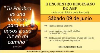 Sábado 9 de junio: Encuentro Diocesano de Animación Bíblica Pastoral