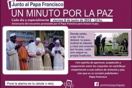 El viernes 8 de junio el mundo pide «Un minuto por la Paz»
