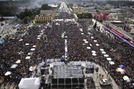 """VIDEO: Homilía de Mons. Oscar Ojea, Presidente de la Conferencia Episcopal Argentina """"A tus pies renovamos la esperanza"""""""