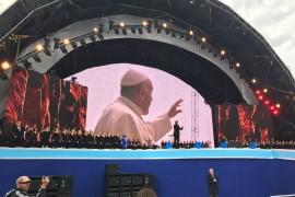 Papa Francisco durante la Fiesta de las Familias en Irlanda