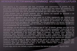 Mensaje de Monseñor Víctor Manuel Fernandez, Arzobispo de La Plata
