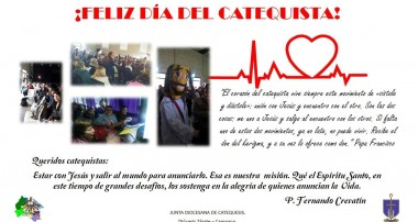 Día del Catequista: Saludos del Pbro. Fernando Crevatín