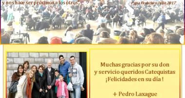 Saludo del Obispo Pedro por el Día del Catequista