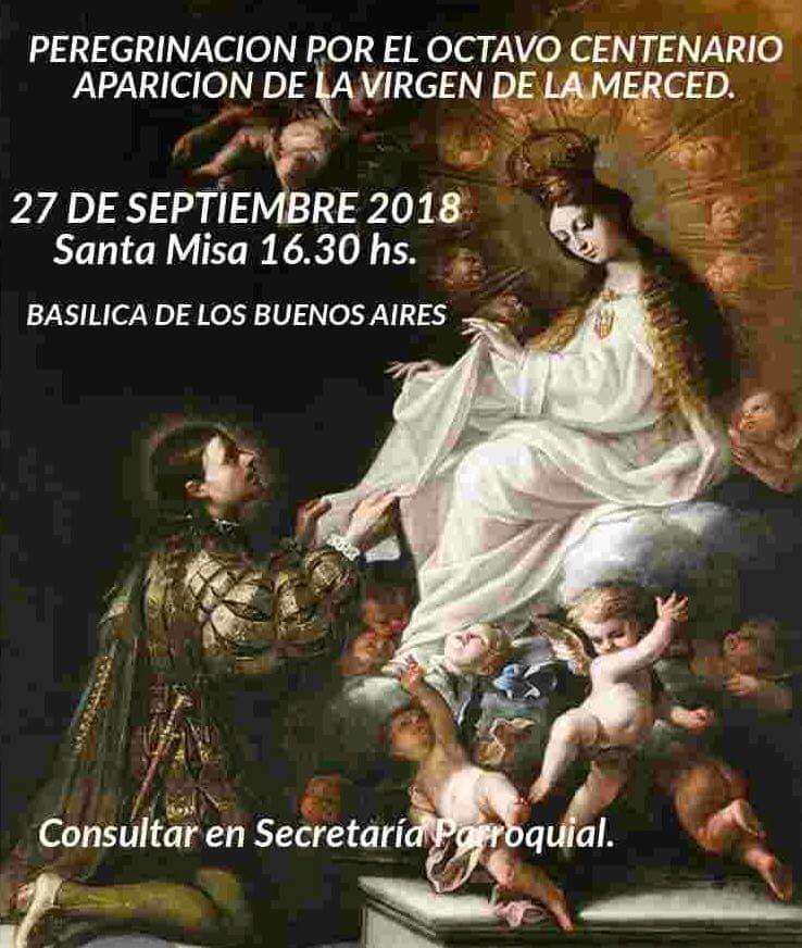 Virgen de la Merced: Peregrinación por 8° Centenario de su aparición