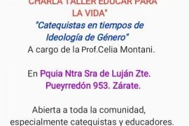 Charla Taller: Catequistas en tiempo de la ideología de genero