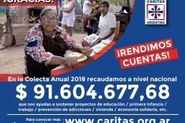 La solidaridad empieza por dar: Cáritas rinde cuenta de su Colecta Anual