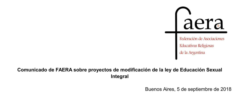Comunicado de FAERA Proyectos de modificación de la ley de ESI