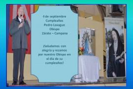 4 de septiembre: Cumpleaños del Obispo