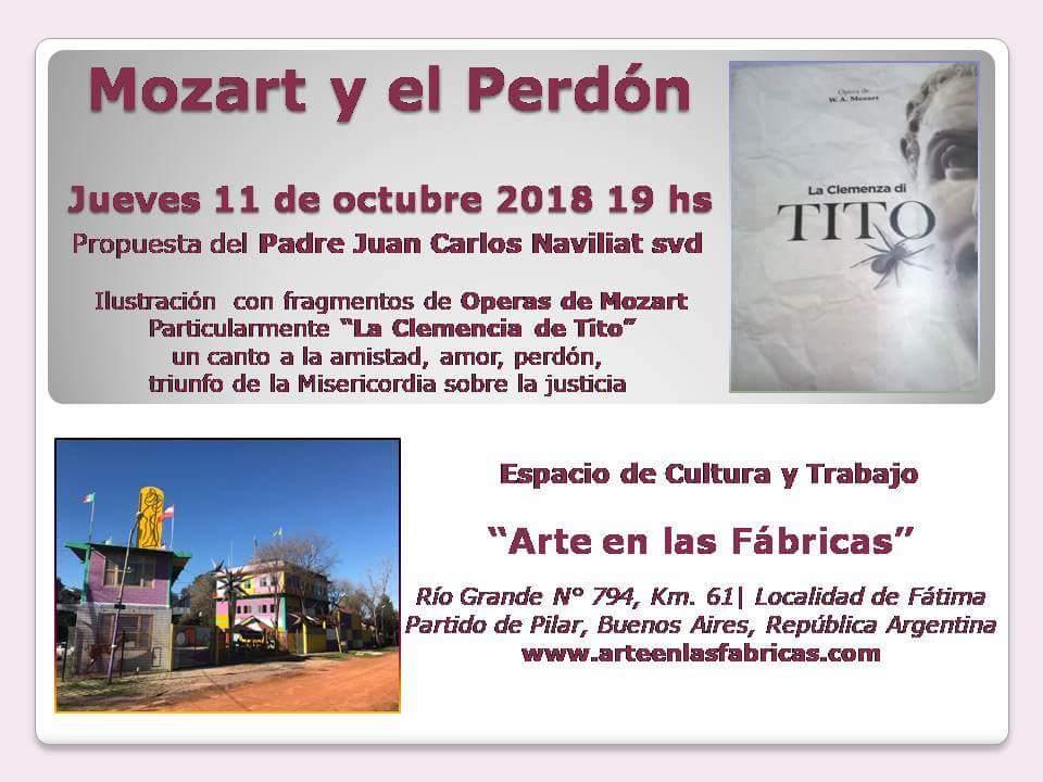 Mozart y el Perdón: jueves 11 de octubre a las 19 hs en Pilar