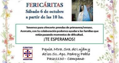 Fericáritas en la Parroquia Ntra Sra de Luján de Campana – Sábado 6 octubre