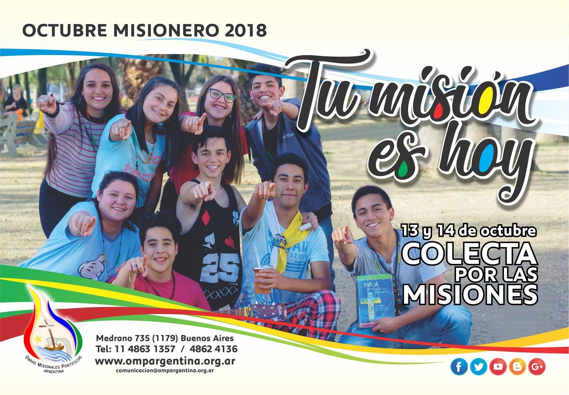 13 y 14 de octubre: Colecta por las Misiones