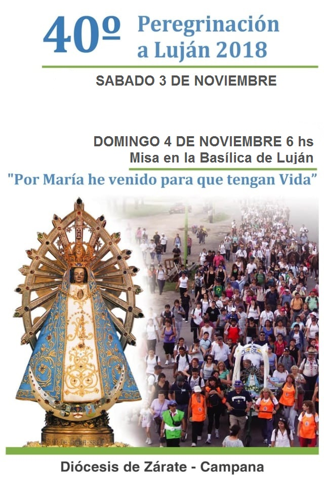 Para difundir: Afiches Peregrinación anual a Luján 3 y 4 Noviembre